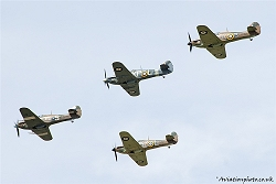 Another view of the The Battle of Britain 75th Anniversary Salute at the Royal International Air Tattoo.