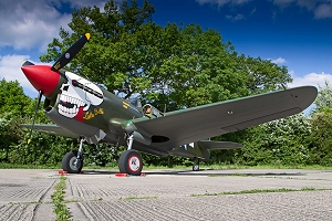 The P-40 at North Weald on her debut in her new markings